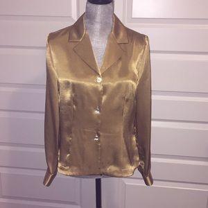 Petite sophisticate gold blouse